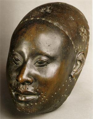 tête en bronze yoruba, Ife. XIIe siècle